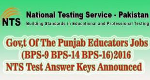 Educators jobs nts test answer keys