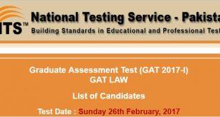 Graduate Assessment Test (GAT 2017-I) ntsonline-2017-02-21-12-36-54