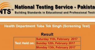 Health Department Toba Tek Singh (Screening Test) Result 2017-02-20-15-47-14