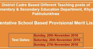 KPK E&SED educators jobs 2017