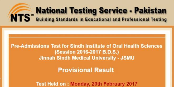 Pre-Admissions Test for Sindh Institute of Oral Health Sciences ntsonline-2017-02-22-17-27-10