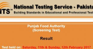 Punjab Food Authority result ntsonline -2017-02-21-12-11-00