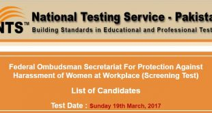 Federal Ombudsman Secretariat NTS Test Rol NO Slip