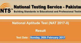 NAT II 2017 Test Result
