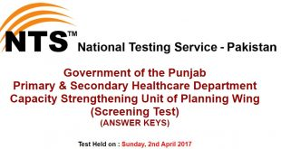 P&SHD NTS Test Answer keys 4-4-2017