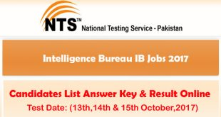 IB Intelligence Bureau Jobs 2017 Answer Online