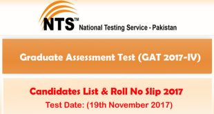 Graduate Assessment Test List of Candidates November 19-11-2017