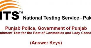 Punjab Police Constable Jobs Screening Test November 2017
