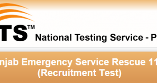 Rescue 1122 NTS Test Result 2017 Punjab Answer Keys